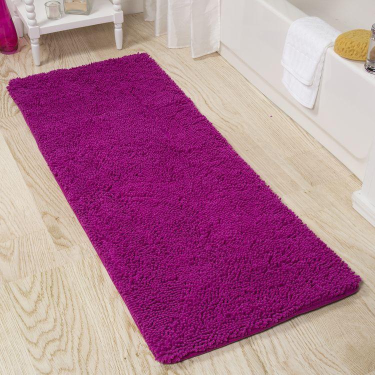 60 inch bath rug ultra soft windsor home 24 60inch memory foam shag bath mat pink burgu