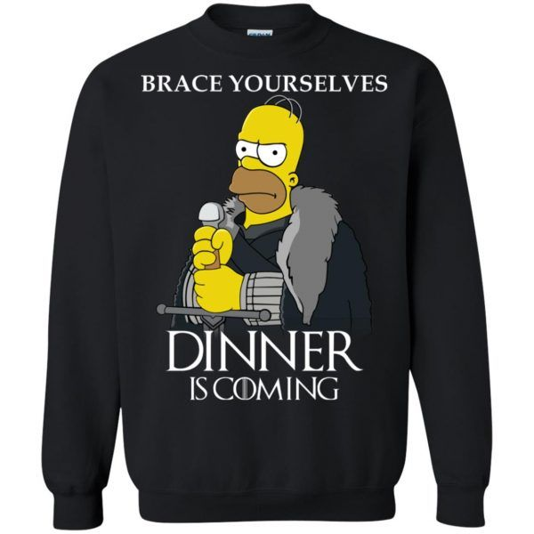 6c264ed70f57 Hommer Simpson On Game Of Throne Dinner Is Coming Sweatshirt - The Simpson  Shop
