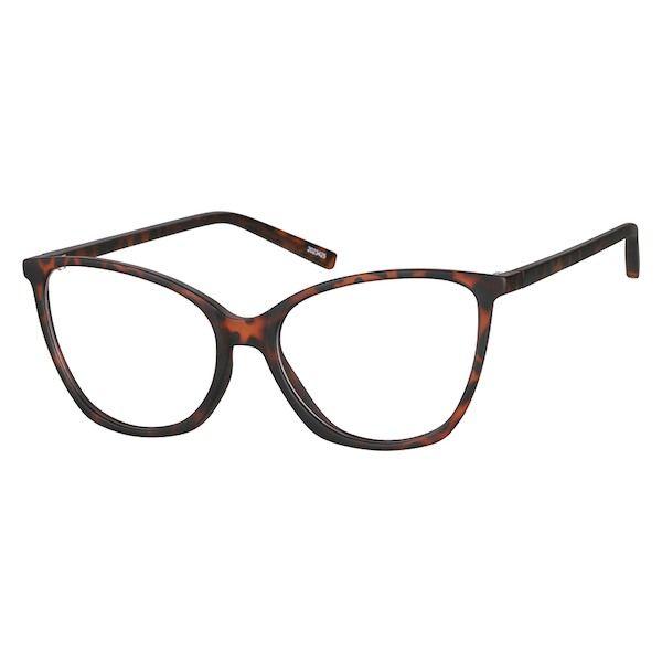 4d11dfec101f Zenni Womens Cat-Eye Prescription Eyeglasses Tortoiseshell TR 2023425