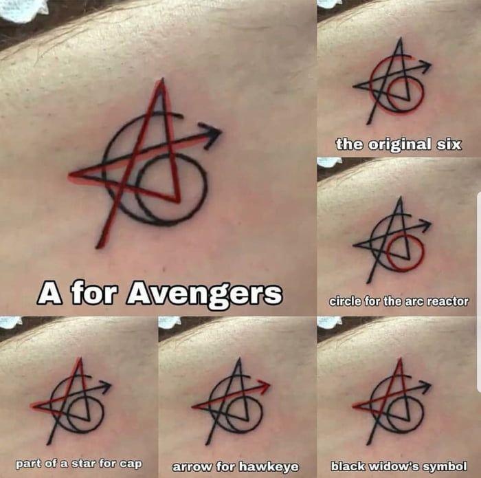 The original Avengers got a matching tattoo - 9GAG