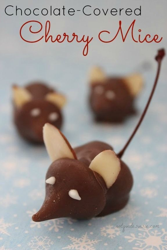 Easy Holiday Candy Recipe: Chocolate-Covered Cherry Mice