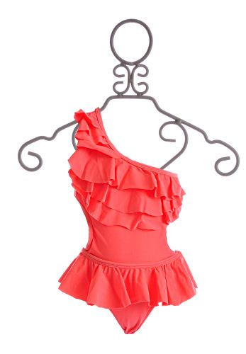 cab57033544 To The 9 s Tween One Shoulder Swimsuit Neon Orange  55.00