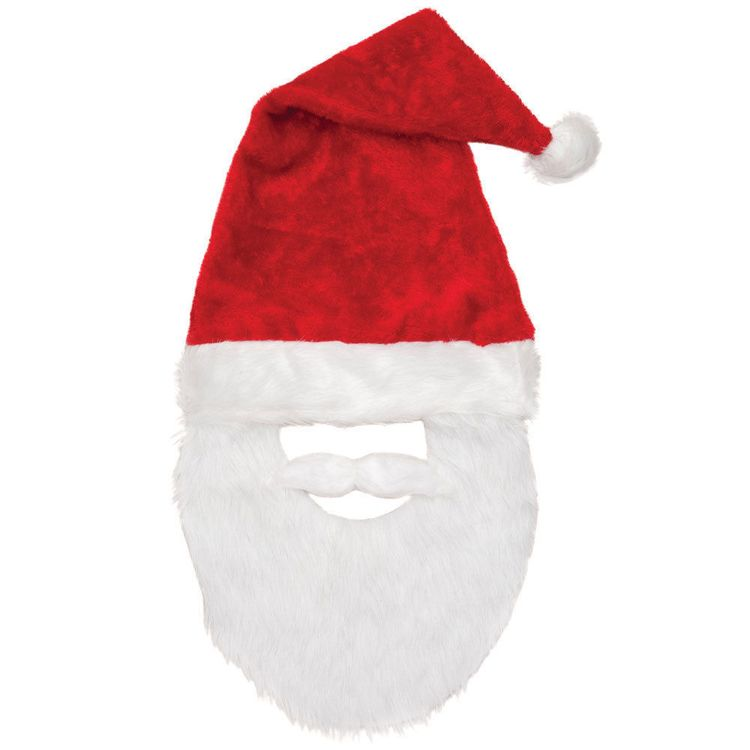 372af3d320e38 Santa Hat with Mustache Beard Lightweight Costume Santa Claus Christmas  Party