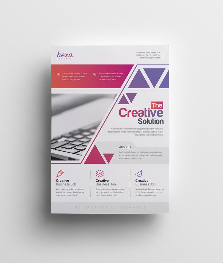 Uranus Stylish Premium Business Flyer Template - Graphic Templates