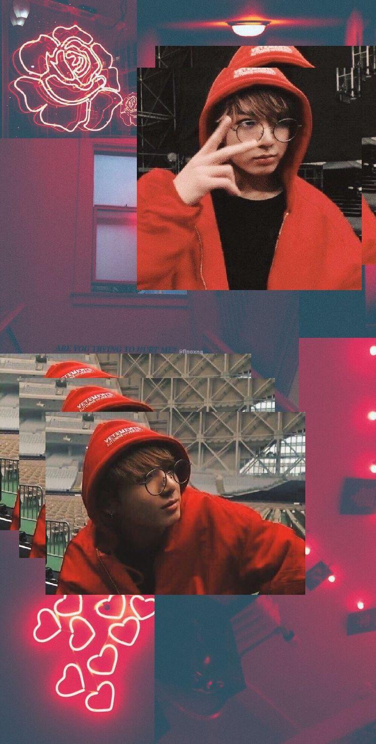 Jungkook Wallpaper Red Bts Jungkook Aesthetic