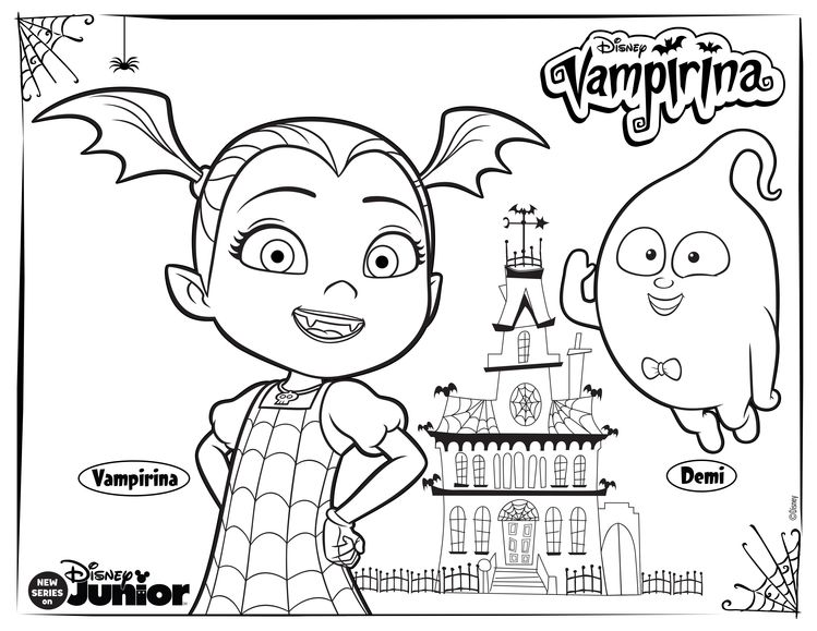 Free Disney Vampirina And Friends Coloring Pages Online To