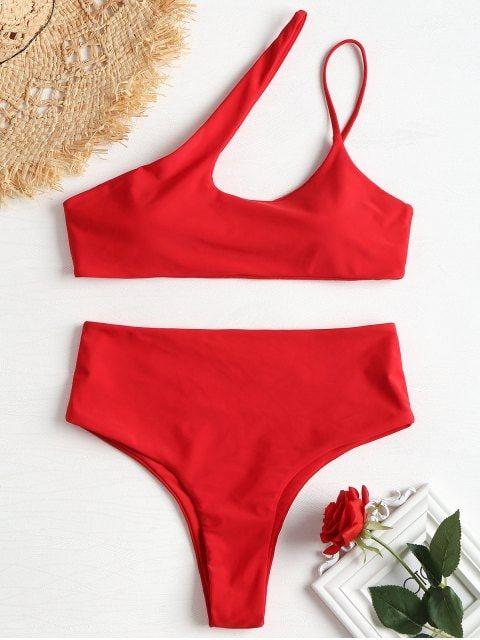 6433a2807e27 One Shoulder High Leg Bikini