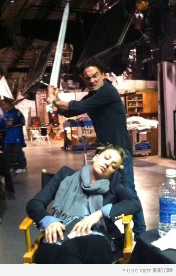 "Reason 437 why I love ""The Big Bang Theory"" ...cause even off set they are still silly!"