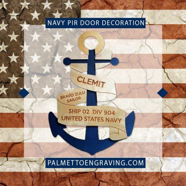 Custom Navy Pir Door Decoration Anchor Door Decoration