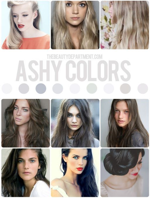 Here's the first of 7 new hair color guides from TheBeautyDepartment.com! Starting off with beautifully edgy ashe tones.
