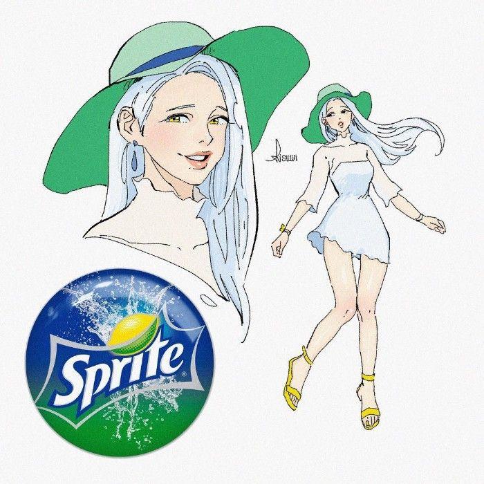 Se os refrigerantes populares eram personagens de desenhos animados (14 fotos)