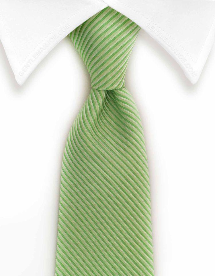 11fd524a98ec Light Green Pinstriped Necktie