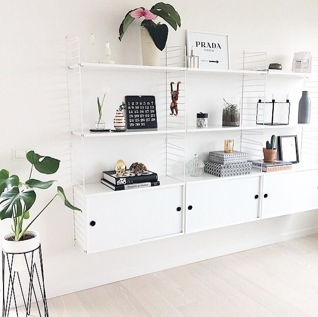pin by emilia karlsson on id er f r hemmet pinterest interiors living rooms and string system. Black Bedroom Furniture Sets. Home Design Ideas