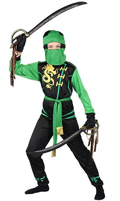 Foxxeo 40317 Schwarzes Drachen Ninjakostum Kostum Ninja F