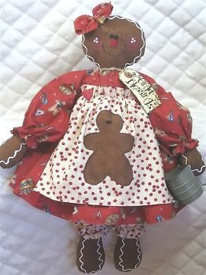 ~~Primitive Gingerbread Doll with Baby~PATTERN #392 ~~