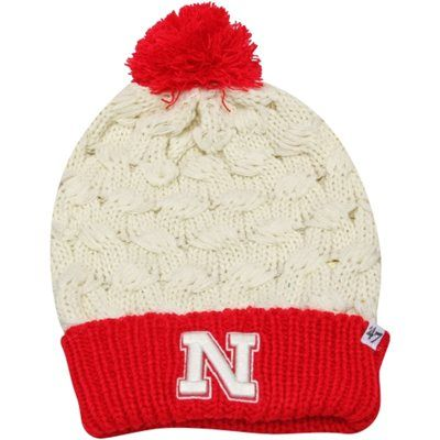 40d08ed2379  47 Brand Nebraska Cornhuskers Ladies Thick Knit Cuffed Beanie -  Natural Scarlet.