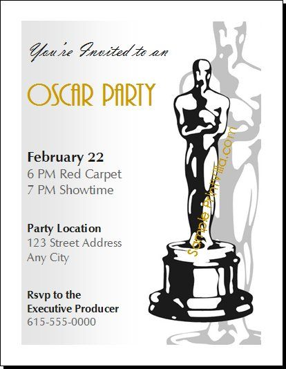 Oscar Party Invitation Templates