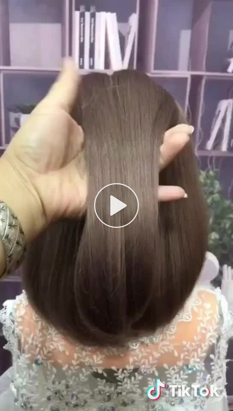 #hairstyle #tutorial #pretty this is easy and look pretty - Hairstyle Women