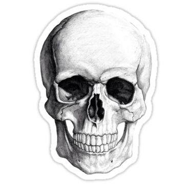 'Skull' Sticker by Ghøst .