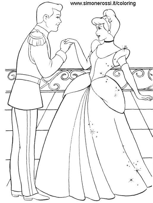 Desene De Colorat Cu Printul Si Printesa Planse De Color