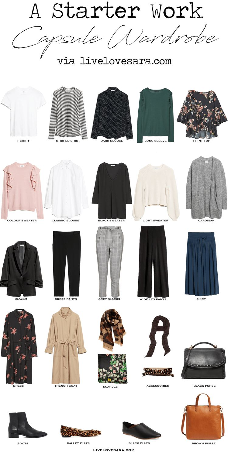 Starter Work Capsule Wardrobe via livelovesara