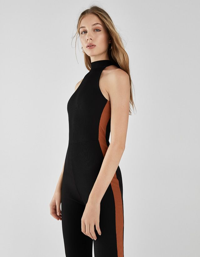83089a289025 Belted jumpsuit with open back - Jumpsuits & Rompers - Bershka United States