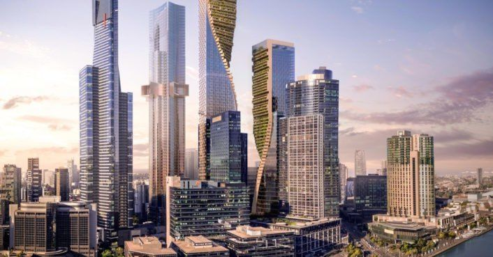 "UNStudio unveils twisting ""Green Spine"" high-rise proposal for Melbourne"