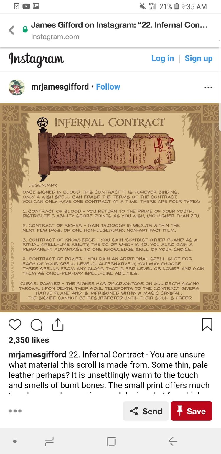 D&D infernal contract, by mrjamesgifford