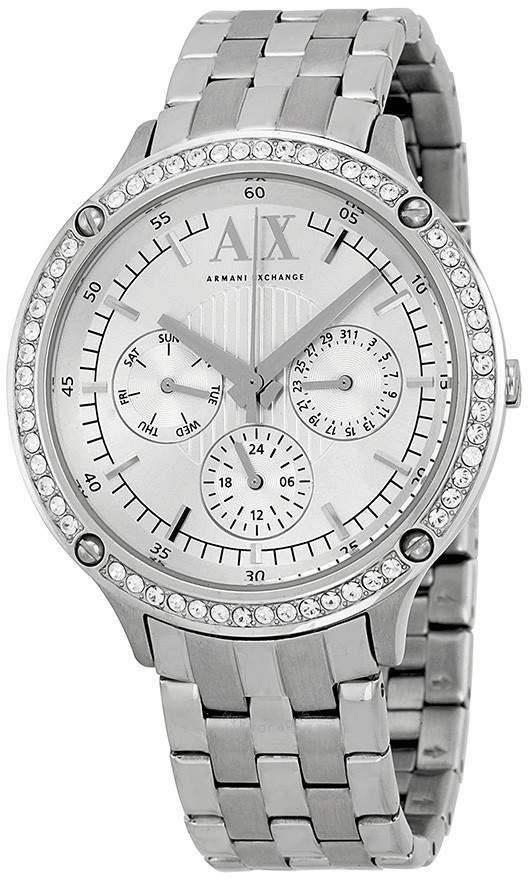 72a9fb9fd Armani Exchange Multi-Function White Dial Stainless Steel Unisex Watch