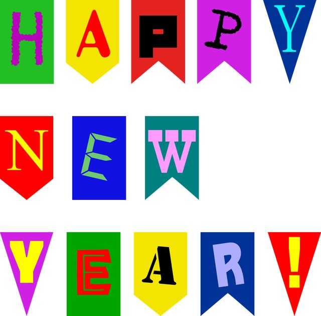 make quick new year cards with this printable banner printable happy new year banner for