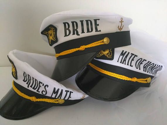 66e35dd0c62 These Personalized Captains Hats will top off any nautical themed event!  For ease of ordering and FAST Processing! These trendy captains hats are ...