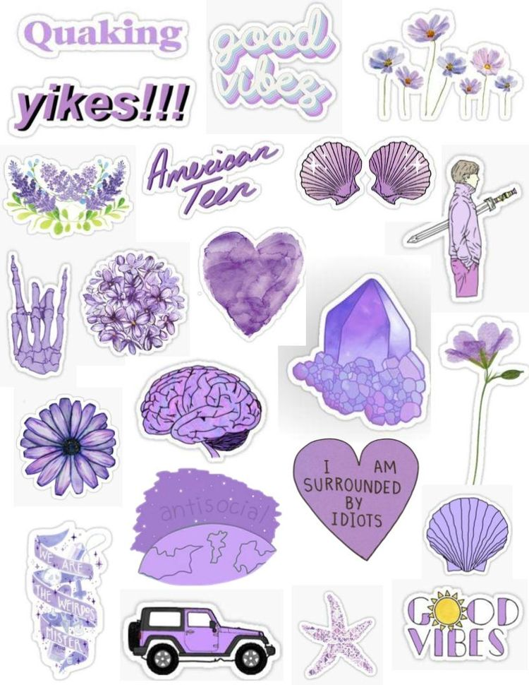 Lilac stickers