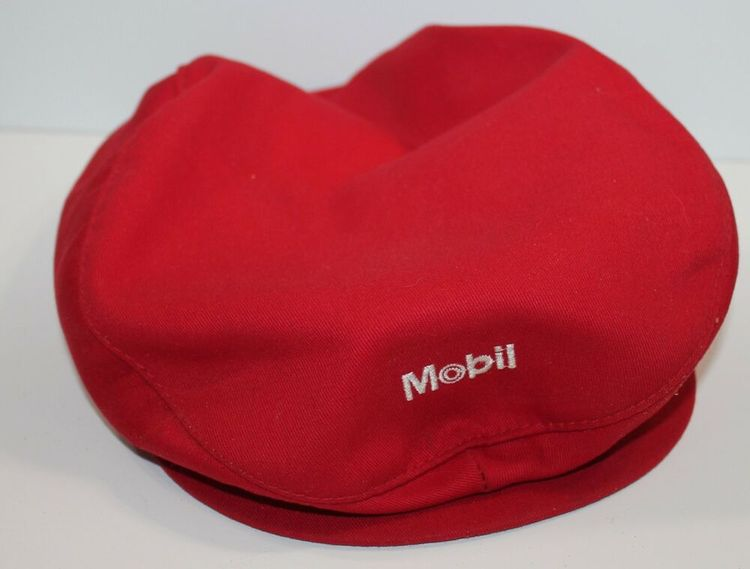 ef01f1d7dbd63 Vintage Mobil Oil and Gas Cap Cabbie Newsboy Caddy Snapback USA Made   stange  NewsboyCap