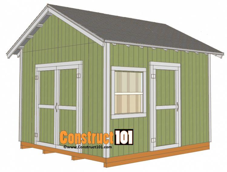 12x12 Shed Plans Gable Shed