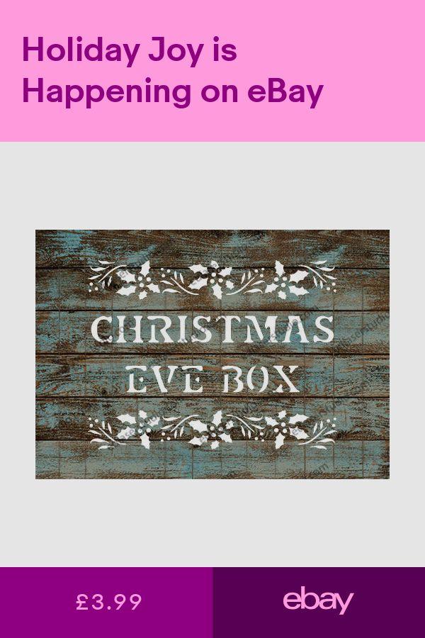 Christmas Eve Box Stencil Vintage Template Furniture Card