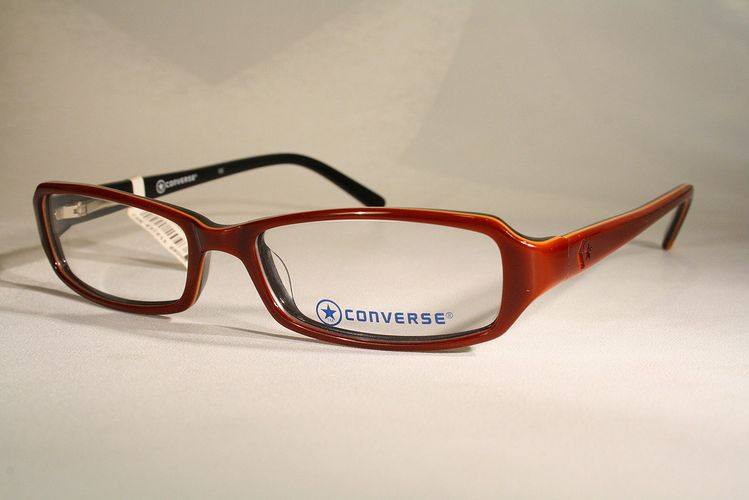 919f2c2ad3 New CONVERSE  EXCESS  Women s Brown   Maroon   Barn Red Eyeglass Frames  Glasses