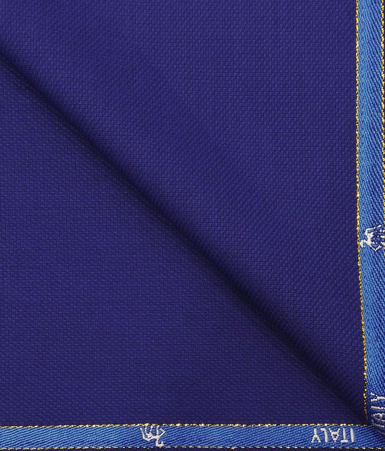 00159ee78b7 Cadini Italy by Siyaram s Royal Blue Self Structured Super 90 s 20% Merino  Wool Unstitched Trouser Fabric (1.30 Mtr)