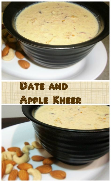 a quick and easy kheer recipe that caters to your sweet tooth and which is healthy too…given the nutritional benefits of dates and apples.