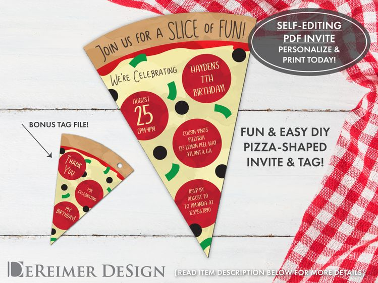 pizza party invitation pizza birthday party invitation e