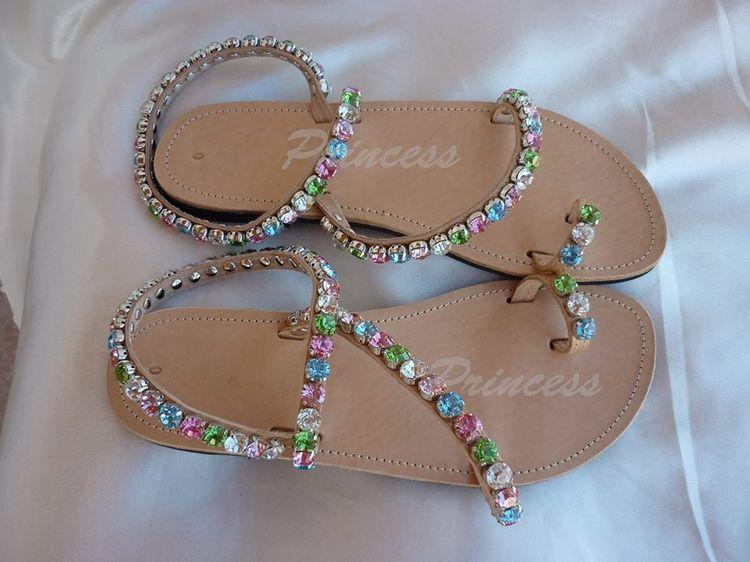 princess #sandals #ancient #greek #decorated #bridal Gree