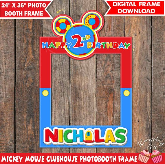 Mickey Mouse Clubhouse Photo Booth Frame Archidev