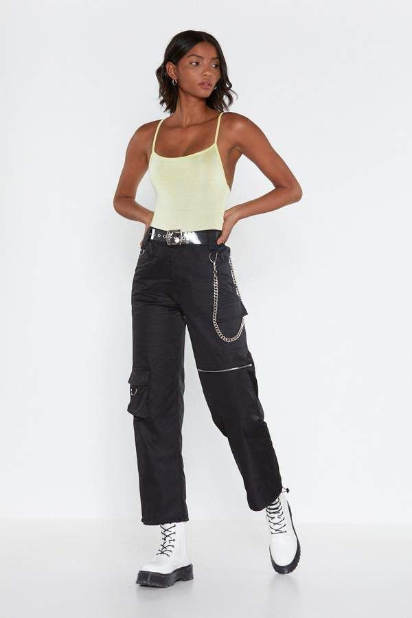 Nasty Gal Easy Come D-Ring Cargo Pants
