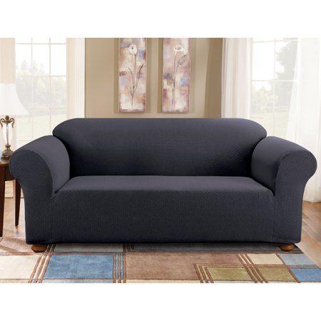 sure fit simple stretch subway one piece sofa slipcover bl rh pinosy com