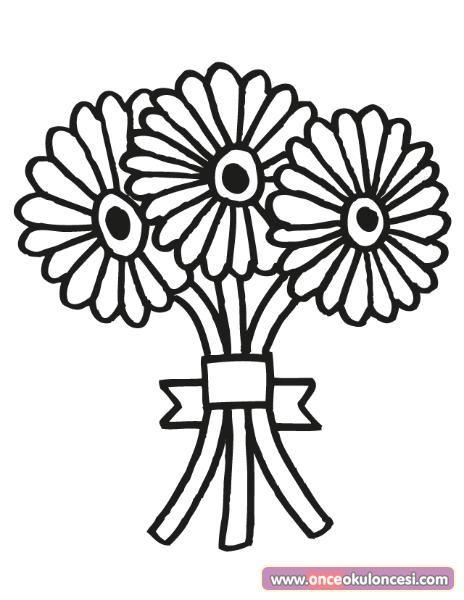 öğretmenler Günü Için çiçek Buketi Boyamaları