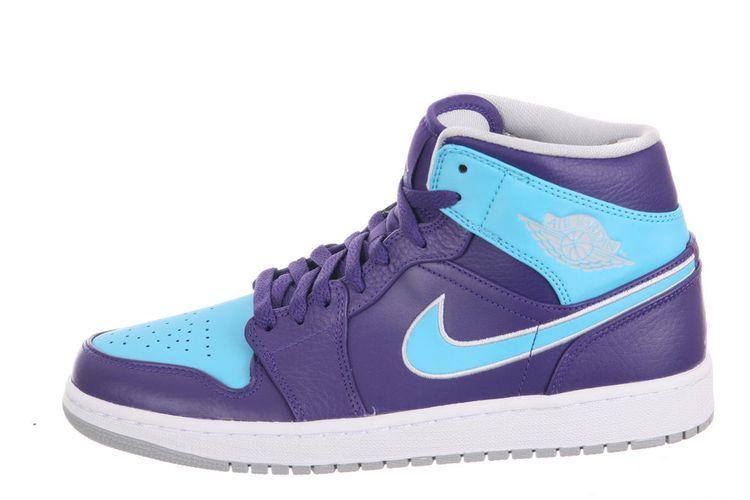 ea063547b7b8ae ... promo code for nike air jordan 1 mid hornets court purple gamma blue  2013 men a3e3f