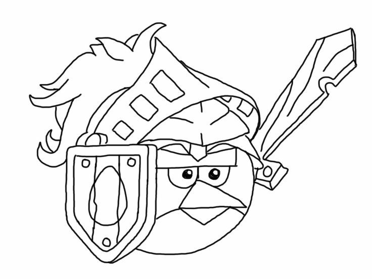Angry Birds Epic Coloring Page Red