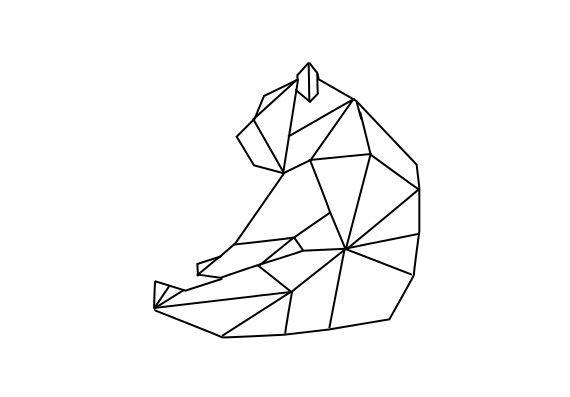 Origami Polar Bear Face