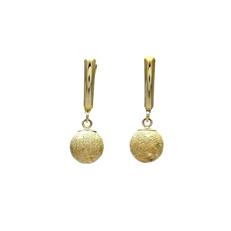 0e8d539ed 14k Gold Stardust Disco Ball Drop Earrings