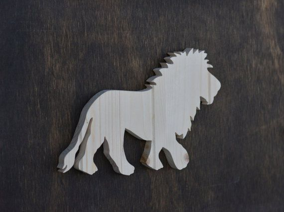 Lion Safari Animal Wood Cutout
