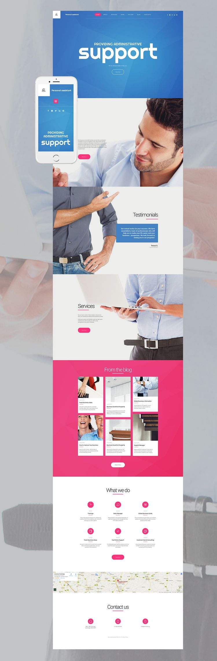 Personal Assistant Website Template For Business Sites